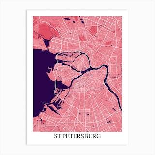 St Petersburg Pink Purple Art Print
