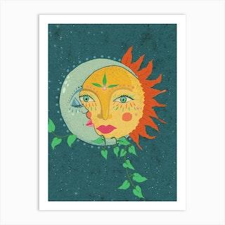 Sun And The Moon Art Print