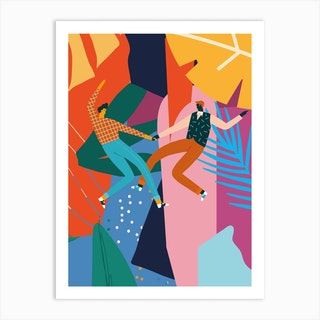 Dancing With My Loveb Art Print