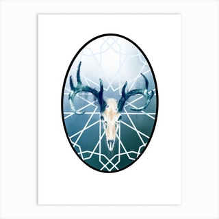 Stag Skull I Art Print