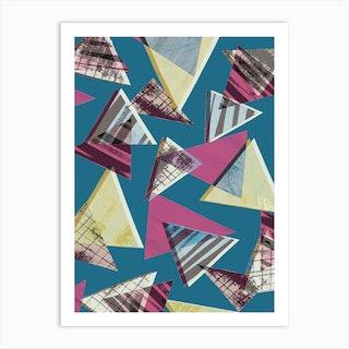 80s Triangles Art Print