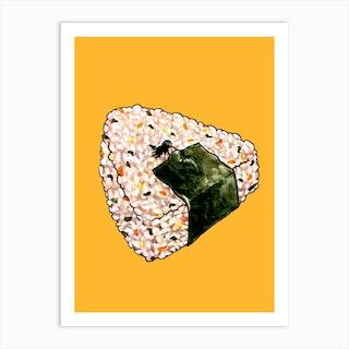 Onigiri Snooze Art Print