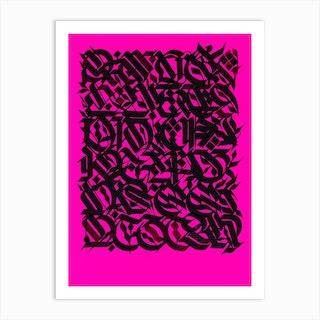 Pink Myths Art Print