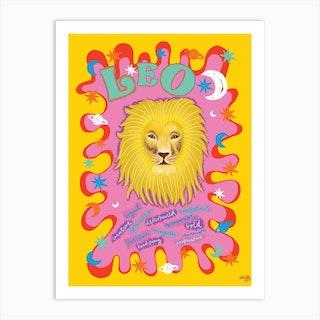 Leo Zodiac Starsign Art Print