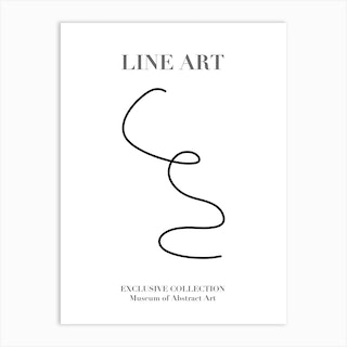 Line Art Abstract Collection 04 Art Print