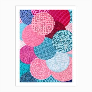 Garden Orbs Art Print