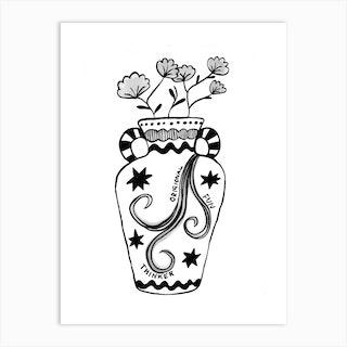 Aquarius Vase Art Print