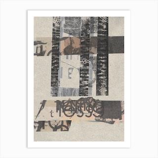 Slanted Strips Two Art Print