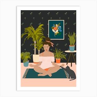 Trying To Be Zen Art Print