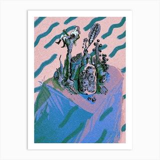Bath Pastel Art Print