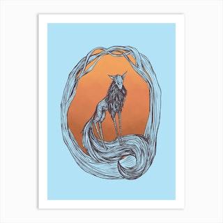 Wolf Forest Art Print