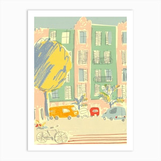 Summer In The Spanish Square  Art Print