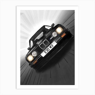 Car Bmw E30 M3 Art Print