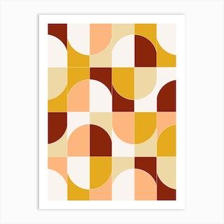 Bold Geo Tiles 03 Art Print