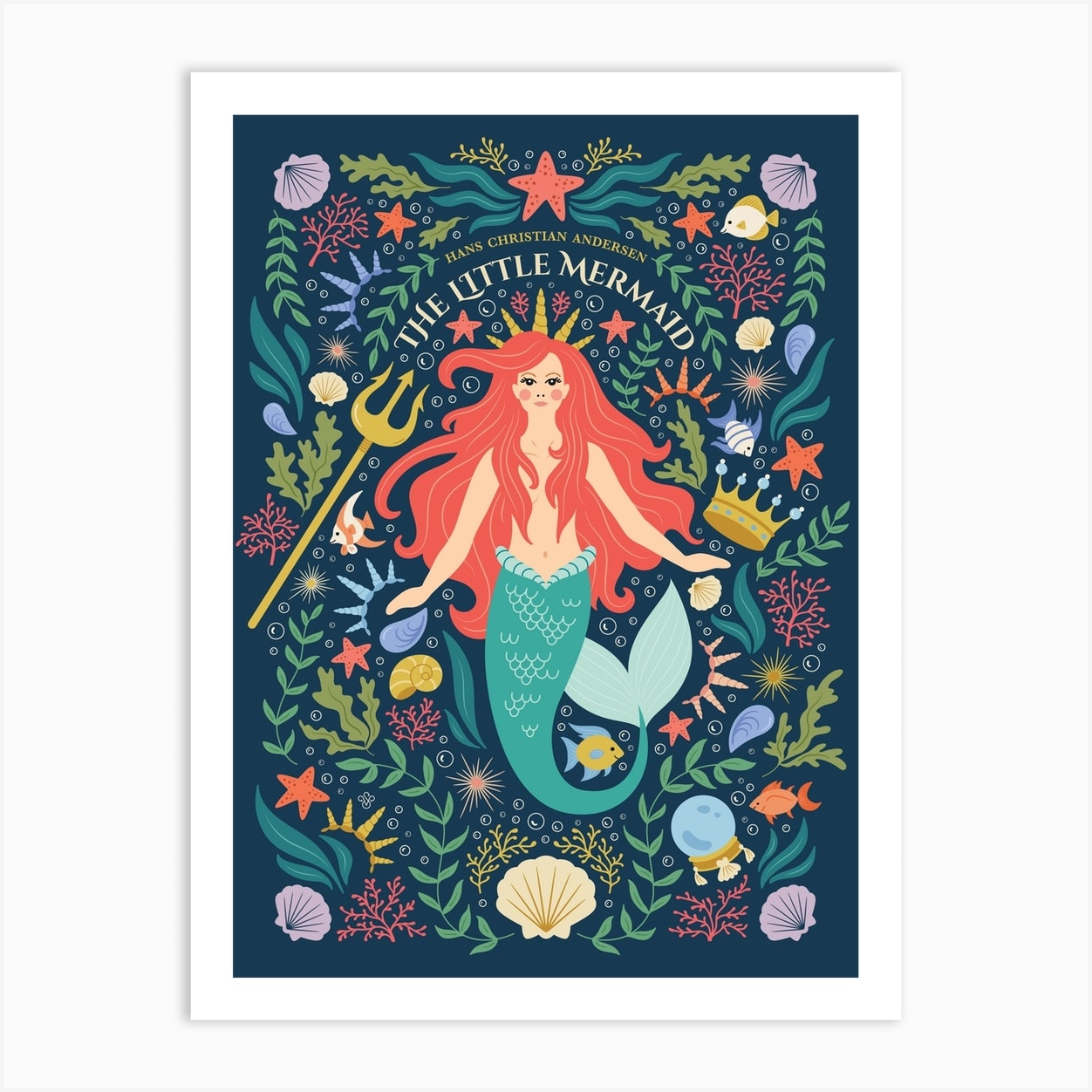 Little Mermaid Art Print By Vesna Skornsek Fy