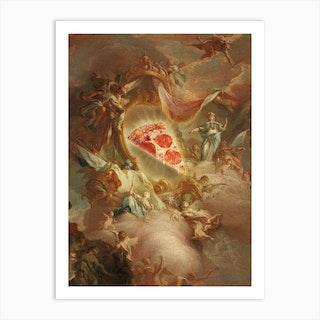 The Holy Pizza Art Print