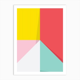 Abstract Pastel Perspective Iv Art Print