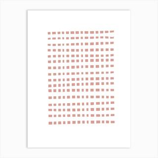 Abstract Pink Sots Art Print