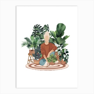 Emma The Plant Mom Art Print