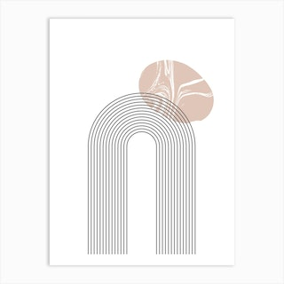 Arches And Marble Pink Art Print