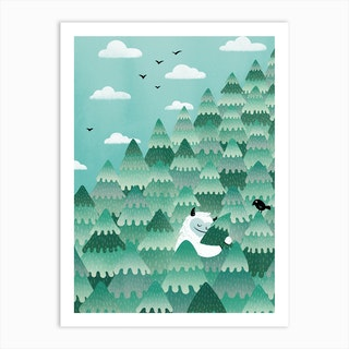 Tree Hugger Spring And Summer Version Art Print