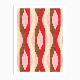 Mod Lines Red Art Print