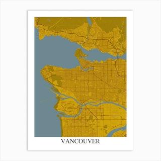 Vancouver Yellow Blue Art Print