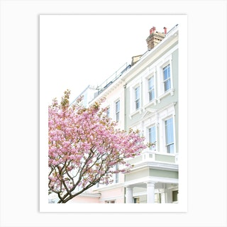Chalk Farm Blossom London Art Print