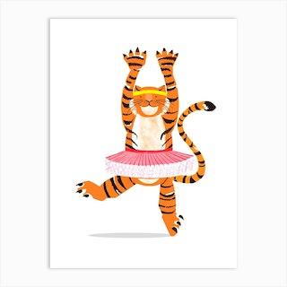 Tiger In A Tutu Art Print