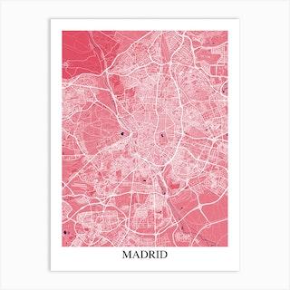 Madrid Pink Purple Art Print