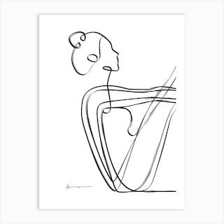 Boat Pose Abstract Art Print