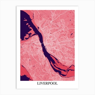 Liverpool Pink Purple Art Print