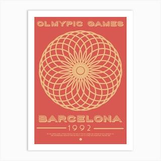 Barcelona 1992 Olympic Art Print