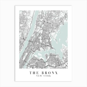 The Bronx New York Street Map Minimal Color Art Print