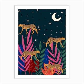 Spirit Animals Cheetah Art Print
