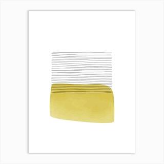 Yellow And Grey Field Art Print