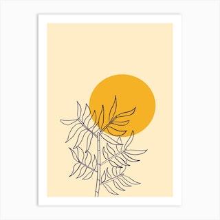 Bamboo Sunset Art Print