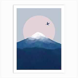 Fuji Crane Art Print