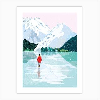 Le Glacier Art Print