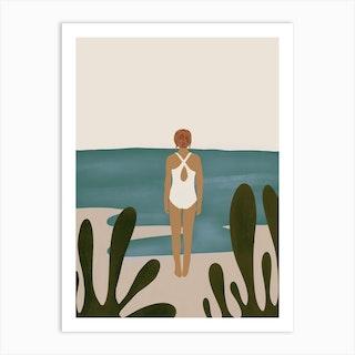 A Quick Dip Art Print
