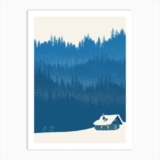 Nordic Ski Scene Art Print