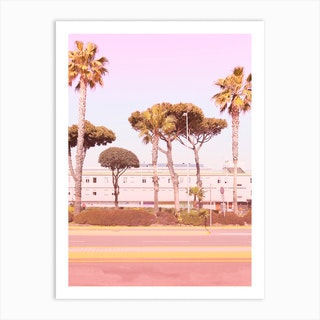Urban Summer And Palms  Art Print
