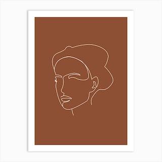 Stoic Minimal Line Portrait Art Print