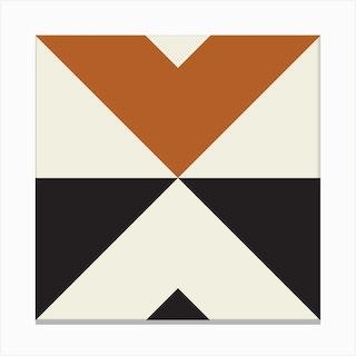 Split X Rust Square Canvas Print