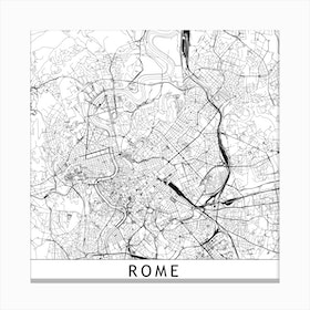 Rome Map  I Canvas Print