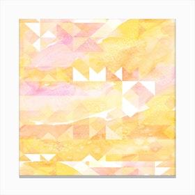 Abstract Watercolor Geometric II Canvas Print