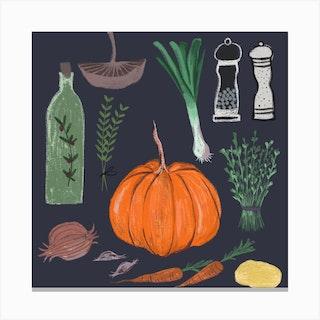 Autumnal Soup Canvas Print
