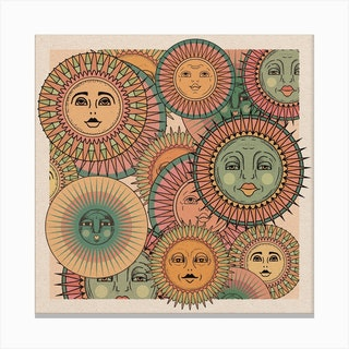 Sun Faces Canvas Print