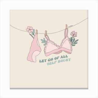Let Go Of All Self Doubt Canvas Print