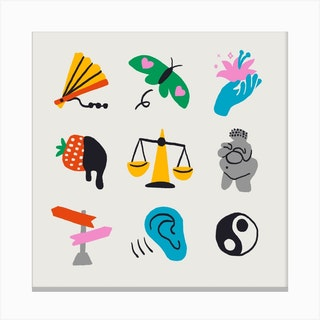 Libra Symbols Canvas Print